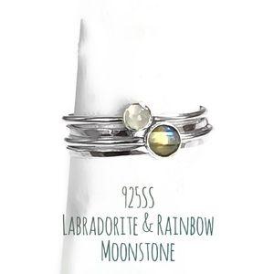 Gemstone Stacking Ring Set of 4